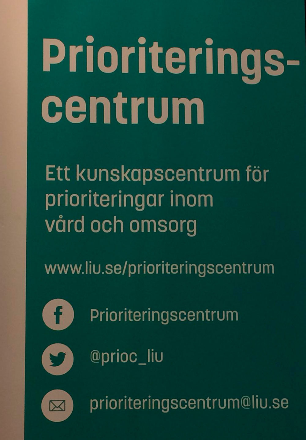 Priorisointiseminaari Linköping 12.9.2018