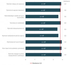 Infograafi, vastauksia ryhmien toimivuudesta