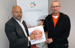 Pohjanmaan Syöpäyhdistyksen toiminnanjohtaja Markku Suoranta ja tapahtuman järjestäjä Ari-Pekka Harju,