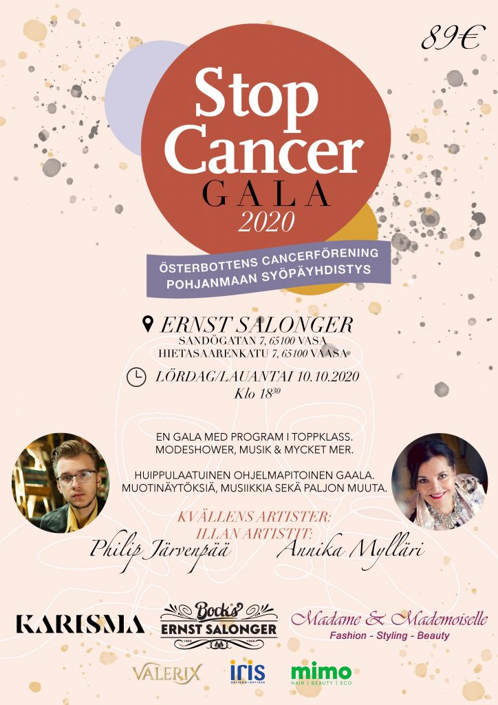 StopCancer gala juliste