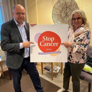 StopCancer-gaalan järjestäjät Markku Suoranta ja Anja Nielsen