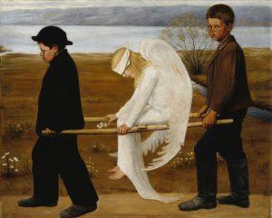 Hugo Simbergin taulu Haavoittunut enkeli