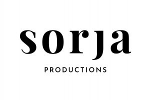Logo, jossa teksti sorja productions.