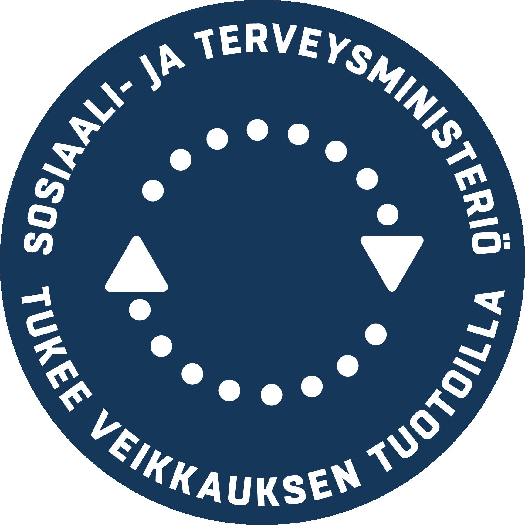 STM tukee Veikkauksen tuotoilla -merkki
