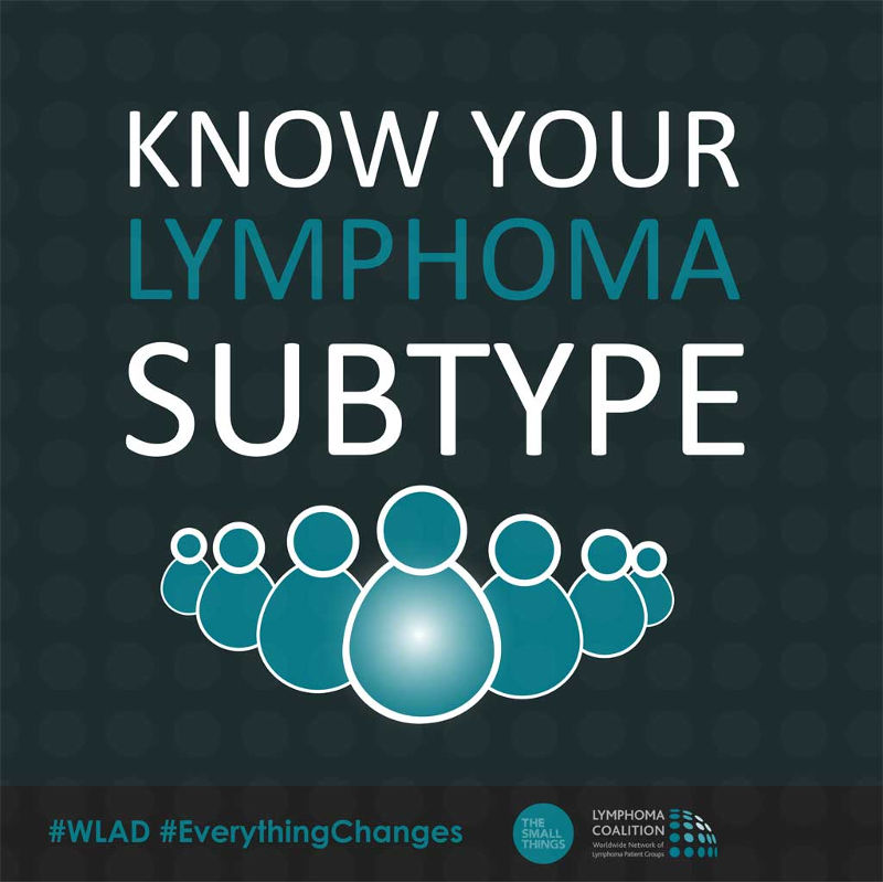 Know your subtype - World Lymphoma Awareness Day