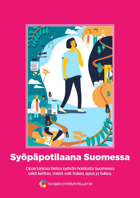 Syöpäpotilaana Suomessa -oppaan kansi