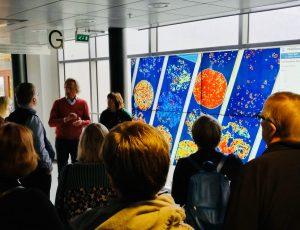 EUPATI-opintoryhmä vierailulla Molekyylilääketieteen Instituutissa FIMMissä.