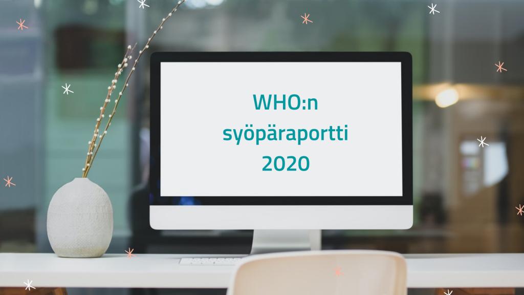 tietokoneen ruudulla teksti WHO:n syöpäraportti 2020