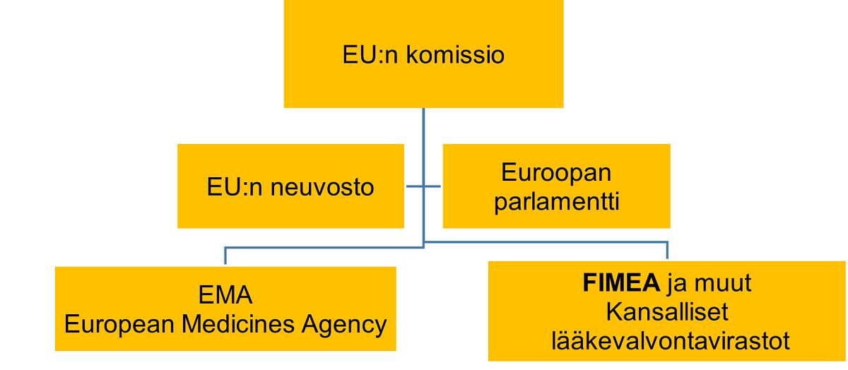 Kuva Euroopan unionin lääkevalvontaverkostosta Fimealta