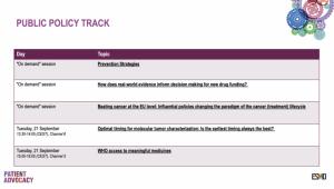 esmo2021 patient track -ohjelman luennot